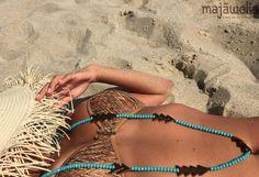 💙 I NEVER GET TIRED OF THE BLUE SKY 💙 🔹🔹#necklace 🔹🔹 #handcraftedjewelry #SS16 #majãwelia #semipreciousstones
