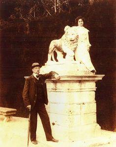 (Hugo Prytz Carter junto a su hija Carmen en el palacete de San Juan)