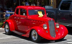 1936 Willys coupe - drag car - red