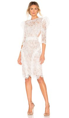 Medeleine Dress in White