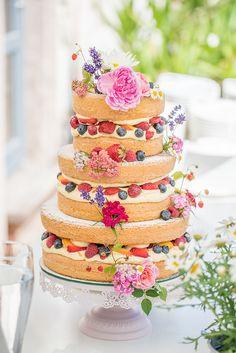 Naked Cakes für die Frühlingshochzeit | Friedatheres.com naked cakes Hochzeit  Torten von Naschwerk & Co.