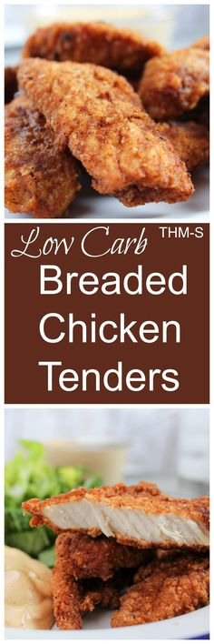 Restaurant Style Breaded Chicken Tenders {THM-S, Low Carb}