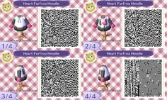 cloudyacqr:  Heart trim Furfrou requested bypinkpoodlewoof. Commencing QR design dump! Though I should spread them out over some days I just don't feel like it. I wanna put them all up. I can't help myself. xP