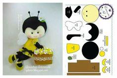 Molde para hacer diferentes abeja de fieltro Gratis (7)