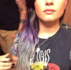 demi lovato lavendar hair