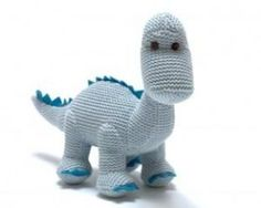 Sweet pastel blue Diplodocus dinosaur rattle, part of a range of ethical toys UK. This baby blue Best Years knitted dinosaur to makes a great new baby gift. Baby Dinosaurs, Dinosaur Toys, Dinosaur Stuffed Animal, Newborn Toys, Newborn Baby Gifts, Newborns, Baby Sensory Toys, Baby Toys, Unique Baby Gifts