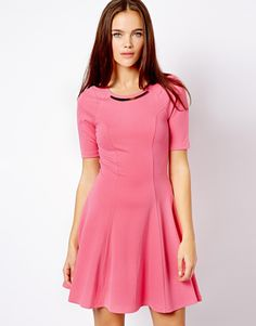 Cute Bright Pink skater dress on clearance for $23