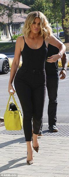 8b4dc1b9b62 Braless Khloe Kardashian shows off perky assets in a flimsy top