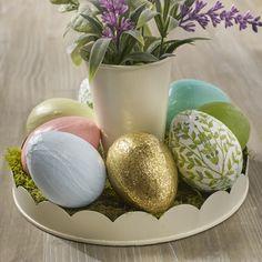 Napkin Decoupage Easter Eggs with Mod Podge - Cathie Filian & Steve Piacenza