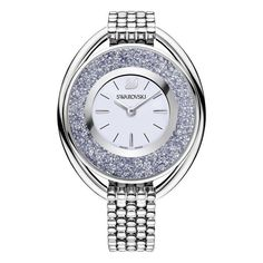 Crystalline White Dial Stainless Steel Ladies Watch