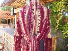 Beautiful Burgundy and Beige   Elegant Shawl  Wrap by Susieskorner, $72.00
