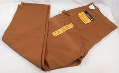 CARHARTT Pants Work Mens Dungaree Fit Carpenter New Size 44W x 32L Brown #Carhartt #workpants #dungaree #carpenter