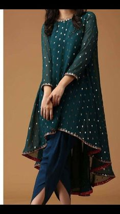 - Indian Satin Dhoti Shalwar Georgette Sequins Embr Kameez suit Ethnic wear dress Source by farhadkhalfey - Pakistani Fashion Party Wear, Pakistani Formal Dresses, Indian Fashion Dresses, Dress Indian Style, Indian Gowns, Pakistani Dress Design, Party Wear Indian Dresses, Shadi Dresses, Indian Suits