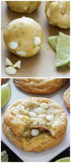 White Chocolate Coconut Key Lime Cookies - thick, chewy, and incredibly flavorful!