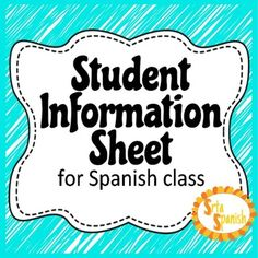 This info sheet is for students to fill out during the first few days of school, or a new semester. It has things like their name, birthday, what they prefer to be called, as well as other useful information, like what they want to learn during class in the upcoming months, allergies, and their interests.It is editable, so you can easily make changes using Microsoft Word.
