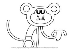 Learn How to Draw Naughty Monkey from Hey Duggee (Hey Duggee) Step by Step : Drawing Tutorials