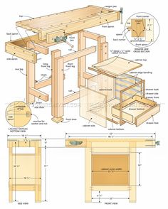 #2900 Compact Workbench Plans - Workshop Solutions