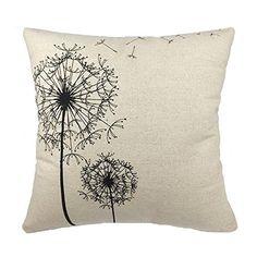 PrimeKey Sexy Charming Simplicity Dandelion Floral Cotton Linen Sofa Throw Pillowcase Cushion Cover Lovely Useful Comfortable