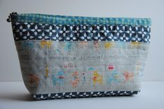 """just love pouches with binding along the top.  If I could only figure out how to make them!  1/4"""" mark"""