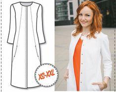 Sewing Patterns  Coat Patterns  Jacket by DressyTalkPatterns