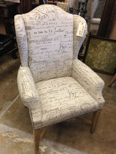 Wing Back Arm Chair #nancymaxandco #scottsdaleairpark