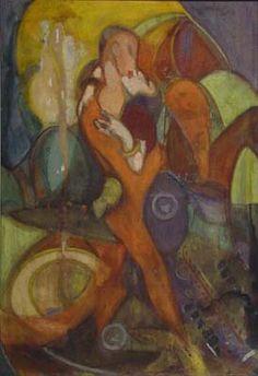 DI CAVALCANTI, Emiliano. O Beijo. 1923. têmpera sobre tela, 90,4cm x 62,3cm. Museu de Arte Contemporânea da Universidade de São Paulo, São Paulo, São Paulo, Brasil. * http://www.macvirtual.usp.br/mac/templates/projetos/jogo/beijo.asp
