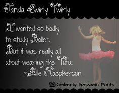 Janda Swirly Twirly font by Kimberly Geswein - FontSpace