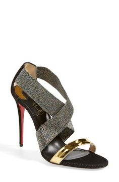 The ship date in these WOULD be my birthday. Sigh...Christian Louboutin 'Elastagram' Sandal available at #Nordstrom