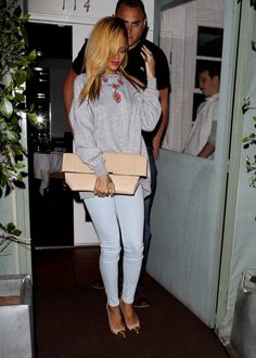 Rihanna Bag- Céline Necklace- Prada