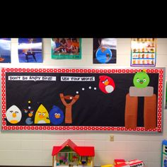 Great for a Guidance Bulletin Board!  Could add some anger management rules and ways to calm down for those birds!