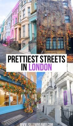 The prettiest streets in London are a must-see when visiting the city! From the best shopping streets in London to cute pastels, there is something to see! London Map, London Places, London Travel, Travel Europe, Travel Uk, Vacation Travel, Best Shopping In London, London Must See, London England Travel