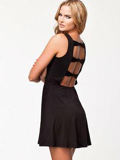 Knot Back Jersey Dress - Ax Paris - Black - Party Dresses - Clothing - Women - Nelly.com Uk