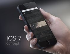 iOS 7 Redesign Concept. I just like the icons.