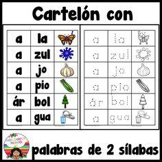 Cartelon para palabras con A, 30 paginas para trabjar las vocales A E I O U. (Spanish alphabet, kinder bilingue)