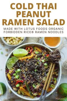 Lotus Foods Cold Thai Peanut Ramen Noodle Salad with Organic Forbidden Rice® Ramen Noodles