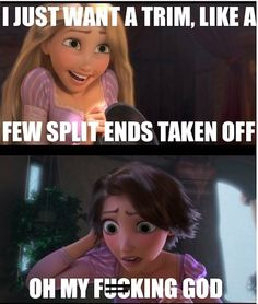 Tangled hair cut