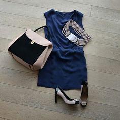 Платье, пояс, сумка, туфли, все - Emporio Armani