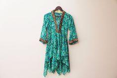 floral sheer gypsy dress / petal skirt / by WILDCANYONSnWHISKEY, $40.00