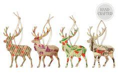 S/4 Silhouette Reindeer Ornaments on OneKingsLane.com