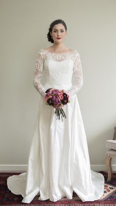 Alabaster Dress With Half Circle Skirt & Polly Lace Bodice by Sophie Voon Bridal Sophie Voon wedding dresses lovingly designed and crafted in our Wellington, New Zealand workroom. Half Circle, Bridal Wedding Dresses, Lace Bodice, Skirts, Beautiful, Collection, Design, Fashion, Moda