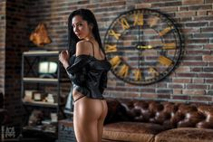 Download 2048x1366 tanned, black lingerie, ass, black hair, leather jacket, couch, bricks Porno Photos, Erotic Wallpapers