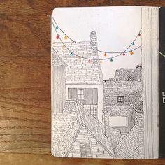 Sketchbook by Stephanie Marihan from Brazil.