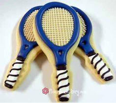 Flour Box Bakery — Tennis Racket Cookie Favor