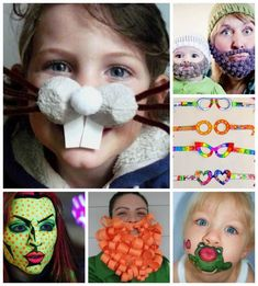 funny faces - need some funny faces to dress up as? Check out these hilarious silly face ideas! Brilliant for Halloween, Fancy Dress or Red Nose Day!