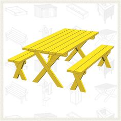 Use these free picnic table plans to create a beautiful table for your backyard, patio, or any other place around your home where you need seating.