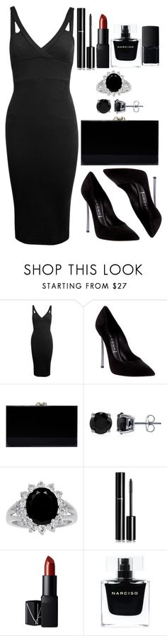 """Untitled #3482"" by natalyasidunova ❤ liked on Polyvore featuring Miss Selfridge, Casadei, Charlotte Olympia, BERRICLE, Chanel, NARS Cosmetics and Narciso Rodriguez"