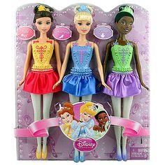 Disney Princess Ballerina Set of 3 [Belle, Cinderella, Tiana] Princess Gifts, Disney Princess Dolls, Princess Photo, Disney Princess Dresses, Disney Dolls, Princess Peach, Disney Princesses, Barbie Chelsea Doll, Amanda