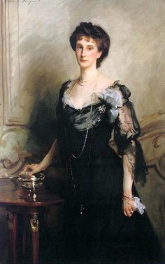 Lady Evelyn Cavendish, Duchess of Devonshire, in 1902 (painted by John Singer Sargent). Shelby and Geoff attend a ball at Devonshire House in London.