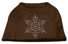 Mirage cat Products 8-Inch Snowflake Rhinestone Print Shirt for cats, X-Small, Brown *** New and awesome product awaits you, Read it now  (This is an amazon affiliate link. I may earn commission from it)
