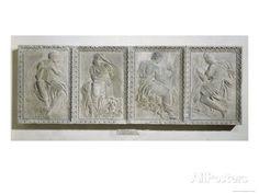 The Four Evangelists, from the Rood-Screen of Saint-Germain L'Auxerrois in Paris, 1544-45 reproduction procédé giclée par Jean Goujon sur Al...